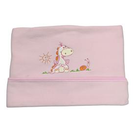 Be Be Bunny Βρεφική Κουβέρτα Κούνιας 110*75cm Dinosaur Κορίτσι Ροζ