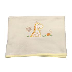 Be Be Bunny Βρεφική Κουβέρτα Κούνιας 110*75cm Dinosaur Αγόρι Εκρού
