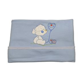 Be Be Bunny Βρεφική Κουβέρτα Κούνιας 110*75cm Bear Αγόρι Σιέλ