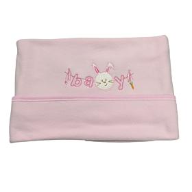 Be Be Bunny Βρεφική Κουβέρτα Κούνιας 110*75cm Rabbit Κορίτσι Ροζ
