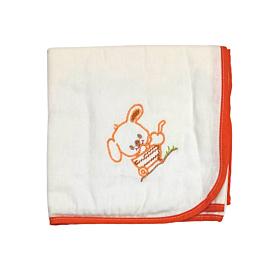 Be be Bunny Βρεφική Πάνα Bear Λευκό-Πορτοκαλί 90*90