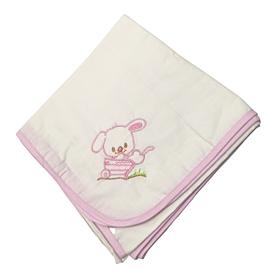 Be be Bunny Βρεφική Πάνα Bear Ροζ-Λευκό 90*90