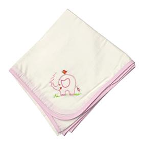 Be be Bunny Βρεφική Πάνα Elephant Λευκό-Ροζ 90*90