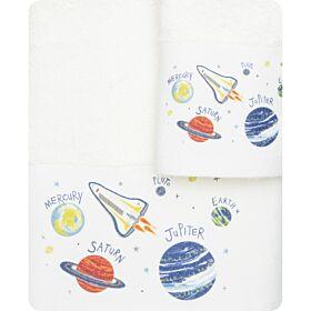Borea Βρεφικές Πετσέτες Διάστημα Σετ 2 τμχ Εκρού