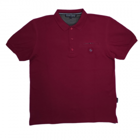 Canadian Country Polo T-Shirt Μονόχρωμο A200 Μπορντό