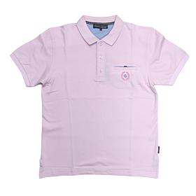 Canadian Country Polo T-Shirt Μονόχρωμο A200 Ροζ