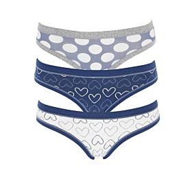Cotonella Γυναικείο Εσώρουχο Slip 3A100 Multicolour 3τμχ