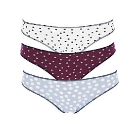 Cotonella Γυναικείο Εσώρουχο Slip 2A100 Multicolour 3τμχ