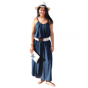 D'DBalears Γυναικείο Maxi Φόρεμα Μπλε Μαρίν
