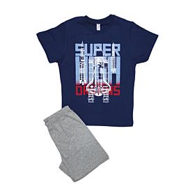 Dreams Παιδική Πιτζάμα Αγόρι Super High Μπλε-Γκρι Μελανζέ