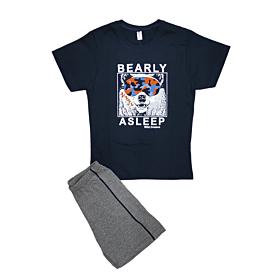 Dreams Παιδική Πιτζάμα Αγόρι Bear Μπλε Μαρίν-Γκρι Μελανζέ