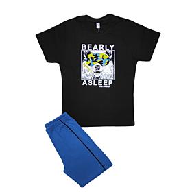 Dreams Παιδική Πιτζάμα Αγόρι Bear Μαύρο-Μπλε Ρουά