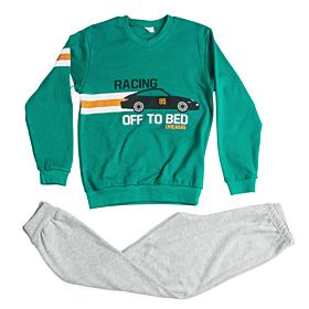 Dreams Παιδική Πιτζάμα Αγόρι Racing Πράσινο-Γκρι Μελανζέ