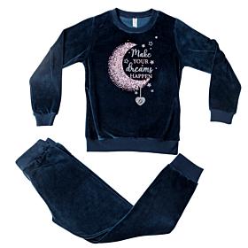 Dreams Παιδική Πιτζάμα Κορίτσι Moon Σκούρο Μπλε