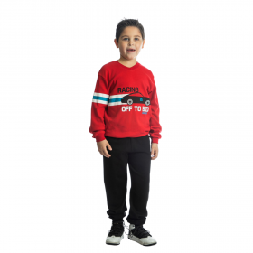 Dreams Παιδική Πιτζάμα Αγόρι Racing Κόκκινο-Μαύρο