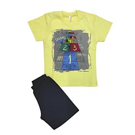 Dreams Βρεφική Πιτζάμα Αγόρι Skater Boy Κίτρινο-Μπλε Μαρίν
