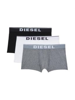 Diesel Cotton Stretch Trunks 3pack Μαύρο-Λευκό-Γκρί