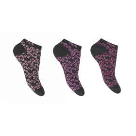 Fila Γυναικεία Αθλητική Κάλτσα Σοσόνι F6923 Μαύρο 3τεμ