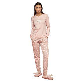 Noidinotte Γυναικεία Βαμβακερή Πιτζάμα Sheep Ροζ