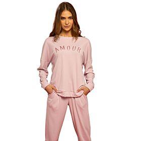 Noidinotte Γυναικεία Βαμβακερή Πιτζάμα Amour Ροζ