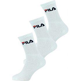 Fila Unisex Κάλτσα Αθλητική F9505 Λευκό 3τεμ