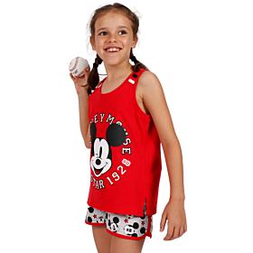 Admas Παιδική Πιτζάμα Tween Chica Mickey All Stars Κόκκινο
