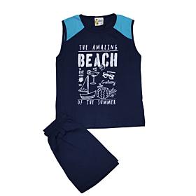 Galaxy Παιδική Πιτζάμα Αγόρι Amazing Beach Μπλε Μαρίν
