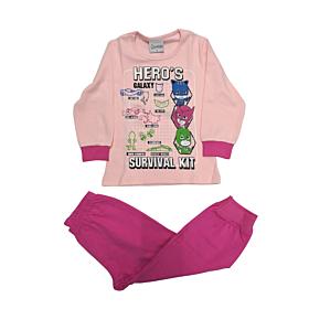 Galaxy Βρεφική Πιτζάμα Κορίτσι Hero's Survival Kit Ροζ-Φουξ