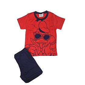 Galaxy Παιδική Πιτζάμα Αγόρι Donult Duck Κόκκινο