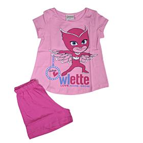 Galaxy Βρεφική Πιτζάμα Κορίτσι Owlette Ροζ-Φουξ