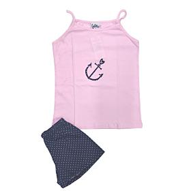 Galay Παιδική Πιτζάμα Κορίτσι Άγκυρα Ροζ-Μπλε Μαρίν