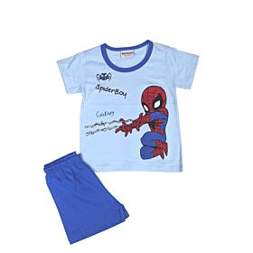 Galaxy Βρεφική Πιτζάμα Αγόρι Spiderman Γαλάζιο-Μπλε Ρουά
