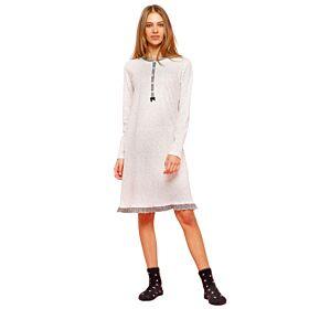 Noidinotte Γυναικείο Νυχτικό Dots Λευκό