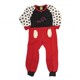 Like Ολόσωμη Φόρμα Πιτζάμα Minnie Mouse Μαύρο-Κόκκινο