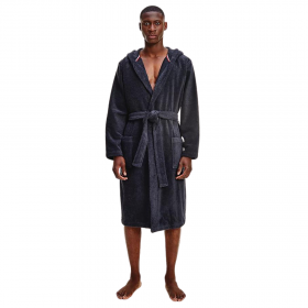 Tommy Hilfiger Hooded Organic Cotton Towelling Robe Σκούρο Μπλε