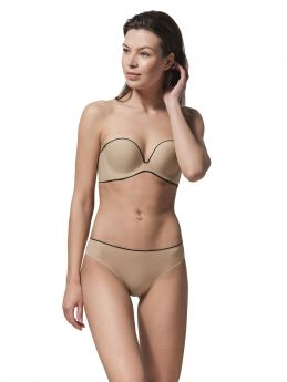 Luna Miracle One Molded Strapless Push-Up Σουτιέν Μπέζ