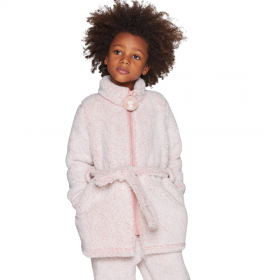 Muydemi Παιδική Fleece Ρόμπα Κορίτσι Ροζ