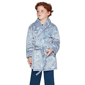 Muydemi Παιδική Fleece Ρόμπα Αγόρι Δεινόσαυροι Μπλε Γκρι