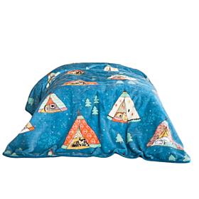 Nima Home Κουβέρτα Μονή Βελουτέ Tippitie 160*220cm Μπλε