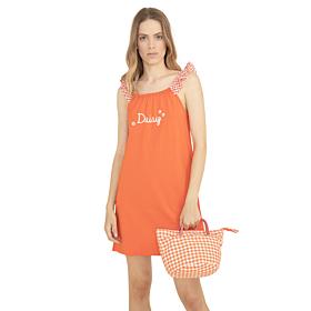 Noidinotte Γυναικείο Νυχτικό Daisy Πορτοκαλί