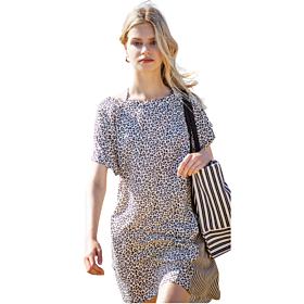 Noidinotte Γυναικείο Φόρεμα Animal Print Μπεζ