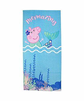 Stamion Πετσέτα Θαλάσσης Peppa Pig Γοργόνα 70*140cm Γαλάζιο