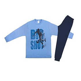 Pretty Baby Παιδική Πιτζάμα Αγόρι 12-16 Big Shot Σιέλ-Μπλε Μαρίν