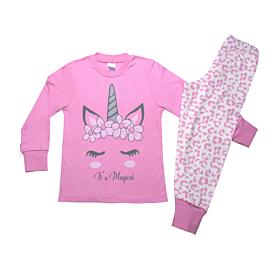 Pretty Baby Παιδική Πιτζάμα Κορίτσι Magical Ροζ-Εκρού Animal