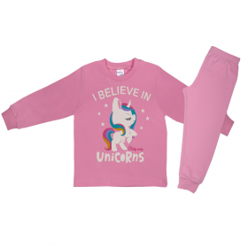Pretty Baby Βρεφική Πιτζάμα Κορίτσι I Believe Ροζ