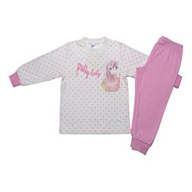 Pretty Baby Βρεφική Πιτζάμα Κορίτσι Magical Εκρού-Ροζ