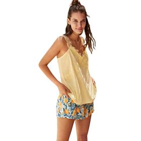 Pomise Γυναικεία Πιτζάμα N11242 Κίτρινο-Βεραμάν