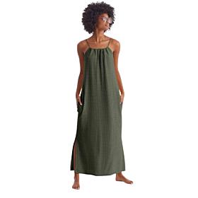 Promise Γυναικείο Maxi Φόρεμα Χακί