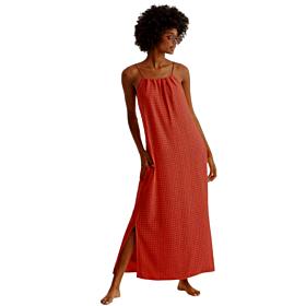 Promise Γυναικείο Maxi Φόρεμα Κεραμιδί