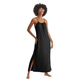 Promise Γυναικείο Maxi Φόρεμα Μαυρό